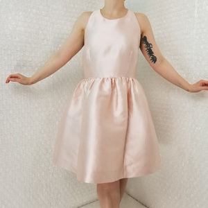 Kate Spade New York shimmery pink fit+flare dress